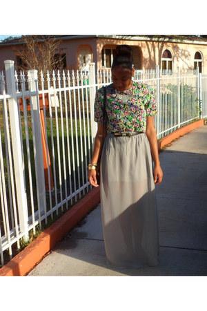 vintage blouse - handmade skirt