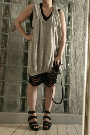 All Saints dress - American Apparel dress - vagabond shoes