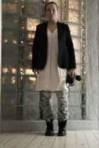 Customized jeans - H&M dress - Filippa-K jacket - Dr Martens boots