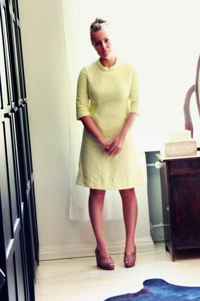 brocade second hand dress - Carin Wester wedges
