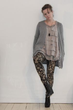 silver COS cardigan - black Rützou shoes - black Marjan Pejoski leggings