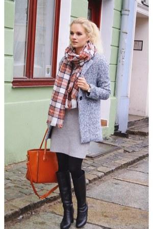H&M scarf - reserved dress - Sheinside coat