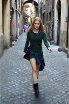 Stradivarius shirt - Zign boots - H&M dress
