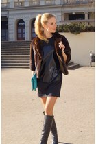Taupage boots - fashionatapl dress - vintage jacket