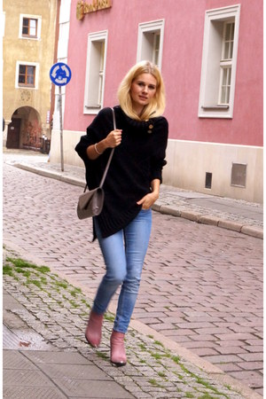 H&M jeans - fashionatapl sweater - Clothispl bag