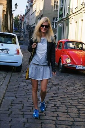 fashionatapl dress - pull&bear jacket - Adidas sneakers