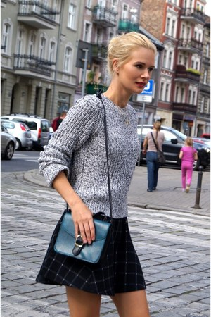 H&M sweater - H&M skirt - calvin klein heels