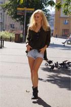 H&M sweater - Verostilo bag - Tally Weijl shorts