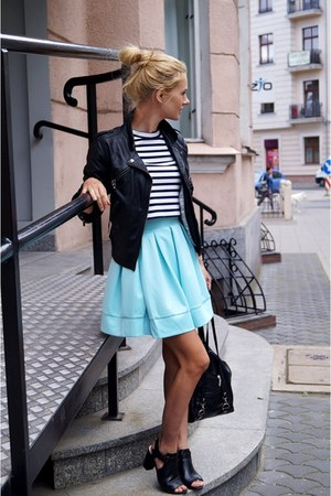 Sheinside skirt - pull&bear jacket - H&M top