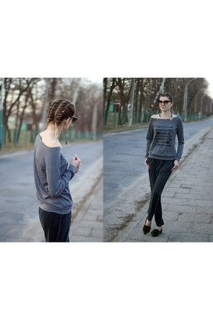 charcoal gray romwe sweatshirt - dark gray Esmara Premium pants