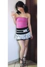 Pink-mango-top-white-online-skirt-black-online-shoes-black-accessories