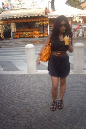 Bershka dress - H&M shoes - vintage - 80s belt