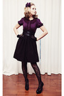 Purple-rickis-fashion-blouse-black-bryans-skirt-black-rickis-fashion-tights-