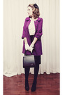 Purple-bb-dakota-jacket-white-rickis-fashion-cardigan-black-mexx-skirt-whi