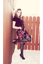 Twinkle Dolls dress - black Rickis Fashion tights - black Aldo shoes - black Jac