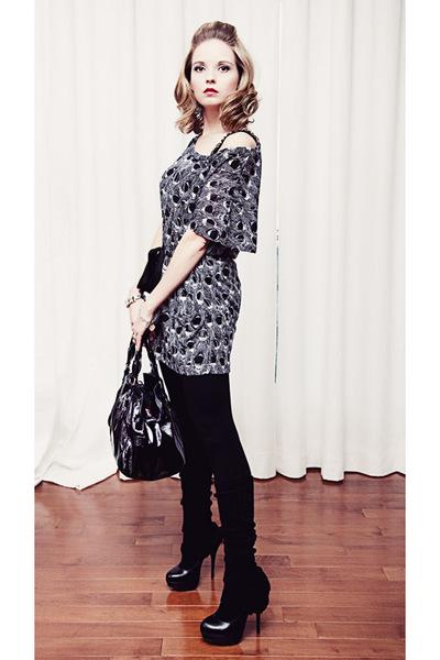 modcloth dress - black Aldo shoes - black unknown brand accessories - black Mexx