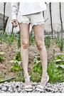 White-unknown-hat-blue-denim-j-koo-jacket-white-lace-zara-shorts