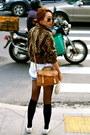 Tawny-vintage-jacket-forest-green-le-joli-shirt-mustard-topshop-bag-sky-bl