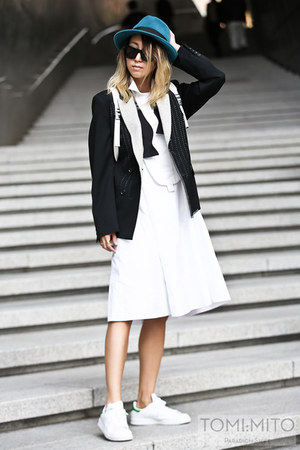 white menswear caruso dress - black menswear caruso blazer