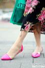 Hot-pink-vintage-dress-black-dear-stalker-dress