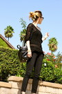 Black-bally-bag-black-ash-wedges-black-joes-jeans-pants