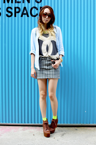 Jeffrey Campbell boots - unknown hat - unknown shirt - upperclass shirt