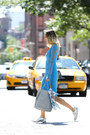 Sky-blue-lace-yuna-yang-dress-light-blue-hermes-scarf
