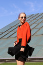 Carrot-orange-jkoo-jacket-black-chanel-bag-purple-quay-sunglasses