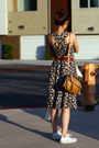 White-converse-shoes-navy-floral-thrifted-vintage-dress