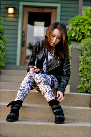 Modern Vintage boots - Tomimito leggings - Miss Sixty jacket