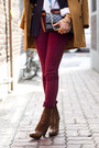 Maroon-urban-outfitters-jeans-tawny-prada-boots