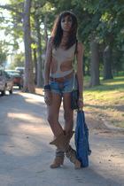 beige American Apparel Zara Rebecca Minkoff shorts