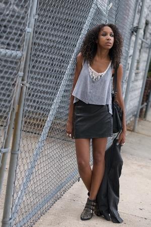 gray Balenciaga LF Urban Outfitters skirt