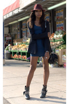 blue American Apparel H&M Alexander Wang blazer