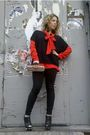 Black-juicy-couture-leggings-black-juicy-couture-vest-red-celine-blouse-bl