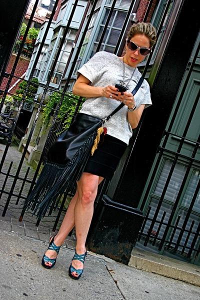 Alexander Wang sweater - pamela love necklace - PROENZA SCHOULER skirt - Nichola