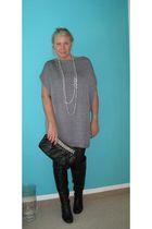 dress - purse - boots