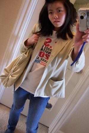 petite sophisticate blazer - t-shirt - Paris Blues jeans - Mossimo