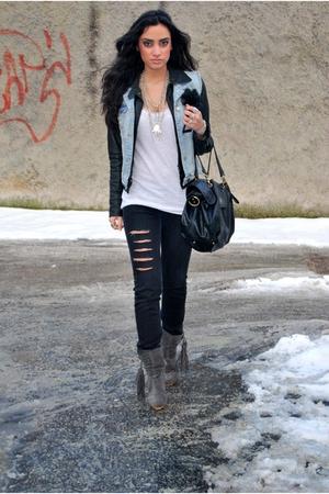 Zara jacket - Mango jeans - SANDRO top
