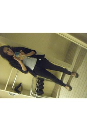 black curve id Levis jeans - black apostrophe blazer