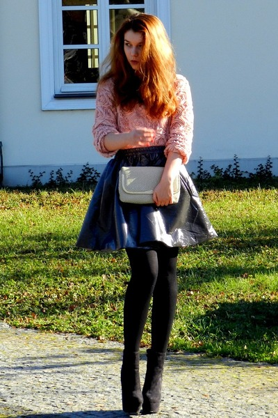 romwe blouse - OASAP necklace - Frontrowshop skirt