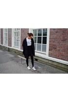 weekday coat - Celine t-shirt - Filippa K skirt - Converse sneakers