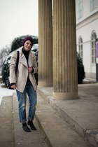 ivory Promod jacket - black Zara shoes - blue Tally Weijl jeans - black Zara bag