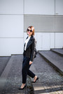 Black-lindex-jacket-navy-zara-pants-white-mango-blouse