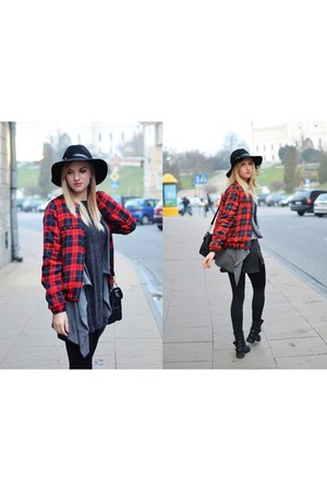 ruby red choiescom jacket - black wool frontrowshopcom hat