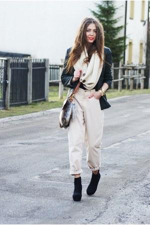 leather vintage blazer - Mustang pants - TKmaxx wedges