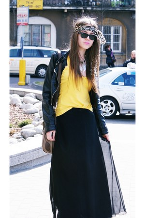 H&M jacket - Ray Ban sunglasses - vintage skirt