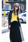 H-m-jacket-ray-ban-sunglasses-vintage-skirt