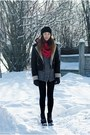 Orsay-jacket-blink-shoes-evie-hat-diy-scarf