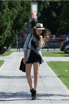 Zara blouse - Vero Moda dress - Bershka shoes - c&a hat - H&M necklace